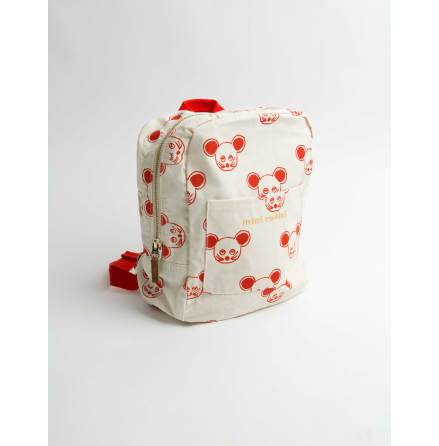 Mini Rodini Mouse Backpack Red