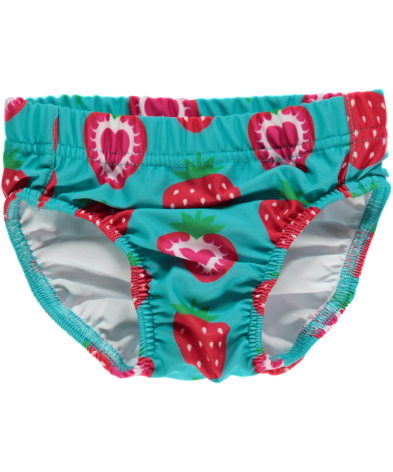 Maxomorra Badbyxa Baby Strawberry Turquoise