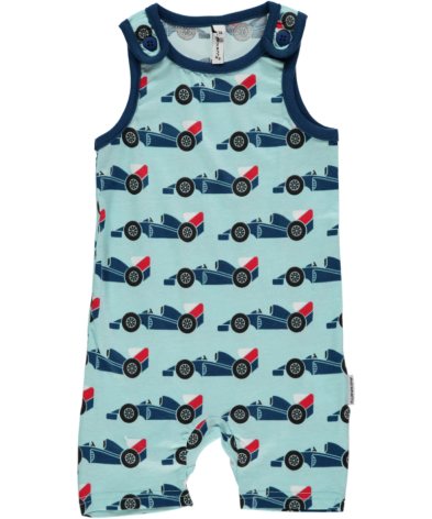 Maxomorra Playsuit Short Racer Car