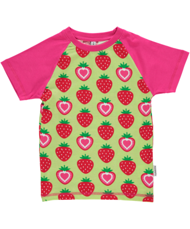 Maxomorra Top Raglan SS Strawberry