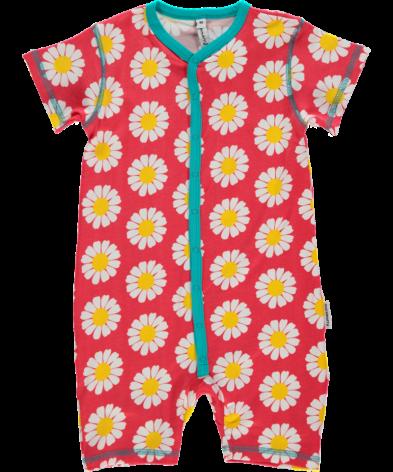Maxomorra Pyjamas SS Daisy Coral