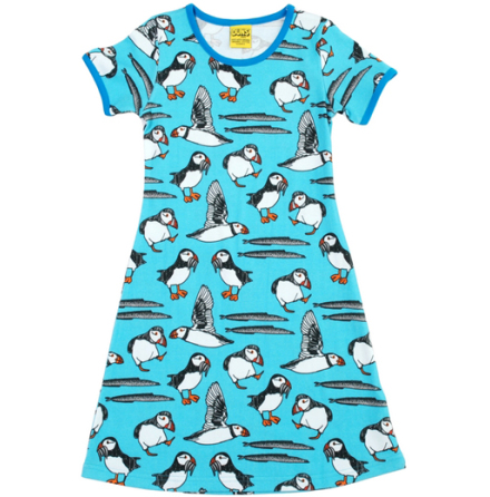Duns Dress Puffin Turquoise