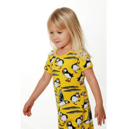 Duns Dress Puffin Yellow