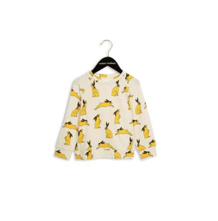 Mini Rodini Bunny LS Tee Yellow