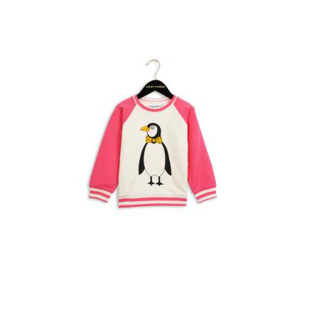 Mini Rodini Penguin Sweatshirt Pink
