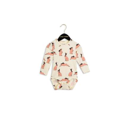 Mini Rodini Bunny LS Body Pink