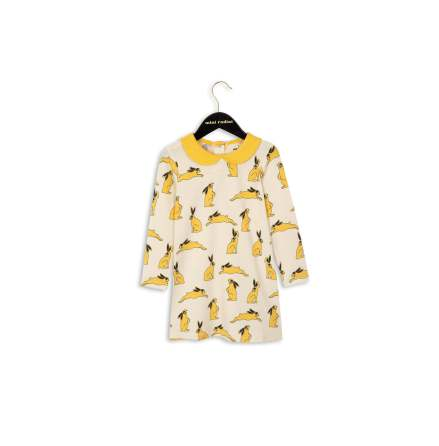 Mini Rodini Bunny Collar Dress Yellow