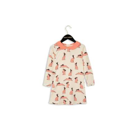 Mini Rodini Bunny Collar Dress Pink