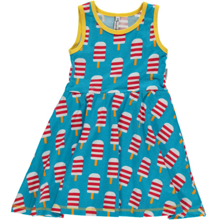 Maxomorra Dress Gathered NS Ice Cream