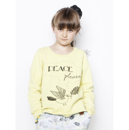 Modeerska Huset Sweater Bird Yellow