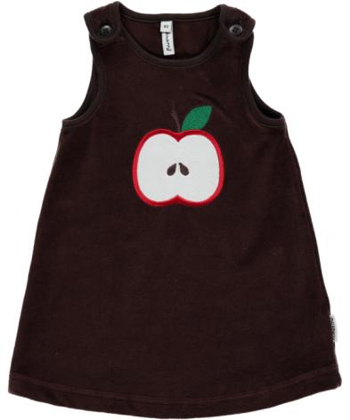Maxomorra Dress Embroid Apple