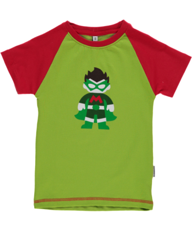 Maxomorra Top SS Print Superhero