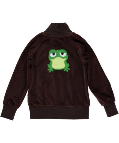 Maxomorra Zip Jacket Embroid Frog
