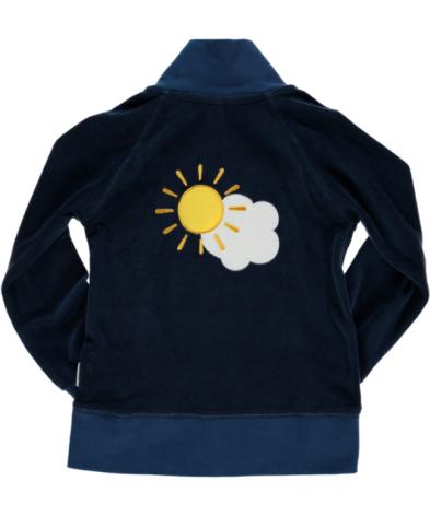 Maxomorra Zip Jacket Embroid Sky