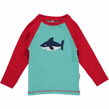 Maxomorra Top LS Print Shark
