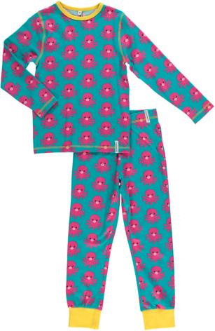 Maxomorra Pyjamas Set LS Octopus