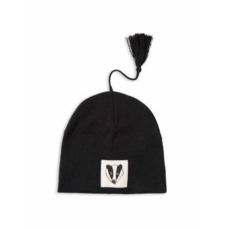Mini Rodini Badger hat Black