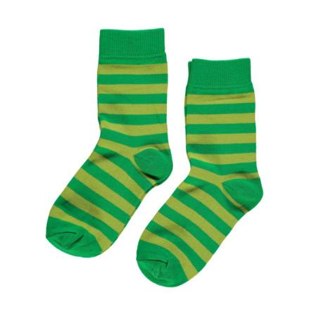 Maxomorra Socks Green/Bright Green 2-pack