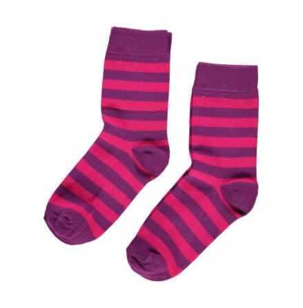 Maxomorra Socks Cerise/Purple 2-pack