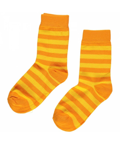 Maxomorra Socks Yellow/Orange 2-pack