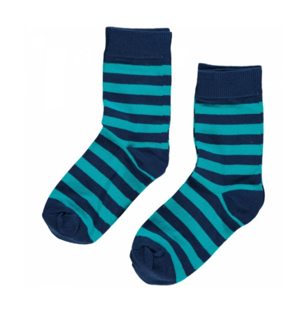 Maxomorra Socks Dark Blue/Turquoise 2-pack