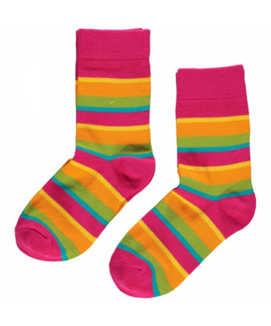 Maxomorra Socks Cerise Mix 2-pack