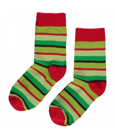 Maxomorra Socks Green Mix 2-pack