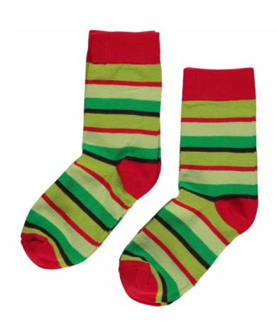 Maxomorra Socks Green Mix 2-pack