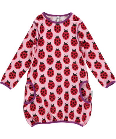 Maxomorra Dress Ballon LS Ladybug