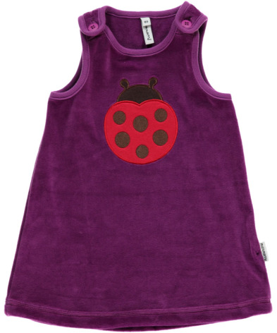 Maxomorra Dress Embroid Ladybug