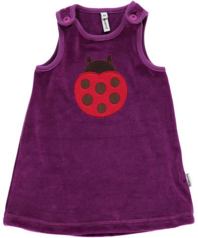 Maxomorra Dress Embroid Ladybug