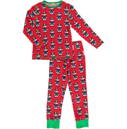 Maxomorra Pyjamas Set LS Pirate Red