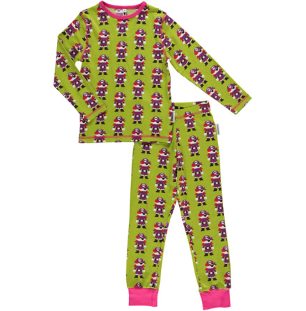Maxomorra Pyjamas Set LS Pirate Green
