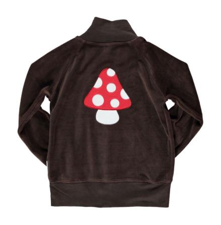 Maxomorra Zip Jacket Embroid Mushroom