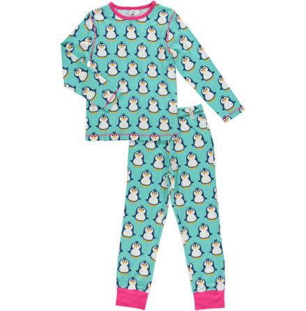 Maxomorra Pyjamas Set LS Penguin