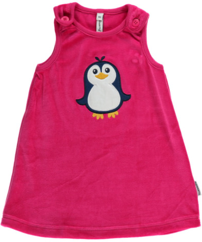 Maxomorra Dress Embroid Penguin